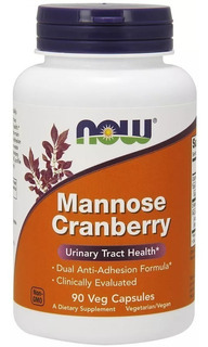Now Foods D Mannose (d-manose) & Cranberry 90 Veg Capsules