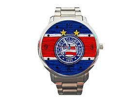 Relógio Bahia Leão Da Barra Futebol Esquadrão De Aço Bola