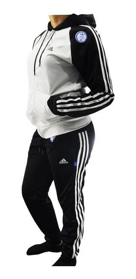 Campera Adids Retro Y Pantalon Deportivo Mujer 3 Tiras Sport