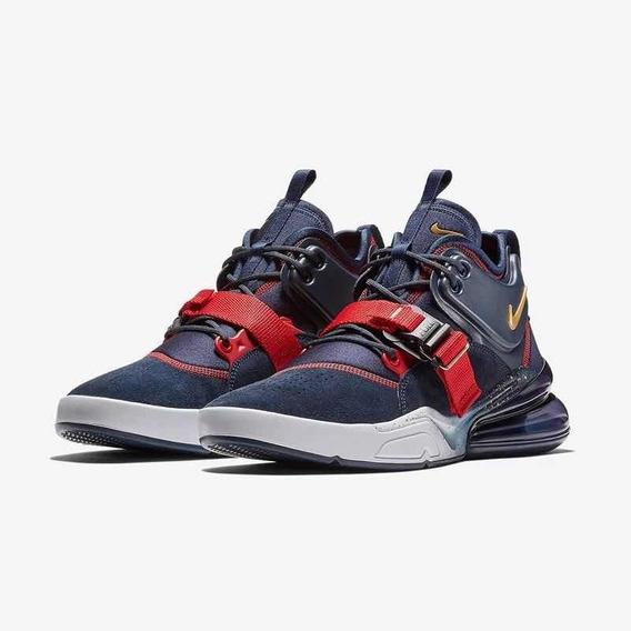Tenis Shoes Nine Air Force 270 Azul Dorado Coleccion