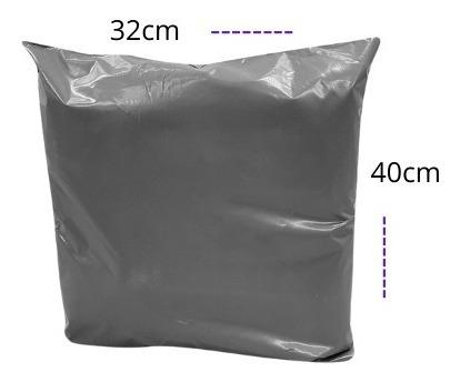 Embalagem De Segurança Com Lacre Cinza 32x40 500 Unidades