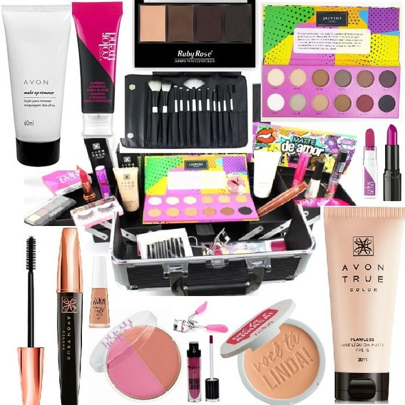 Maleta Maquiagem Completa Pro Avon Ruby Rose Maletas Mania