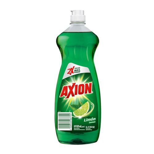 Imagen 1 de 3 de Lavatrastes Axion Limón líquido en botella 525mL