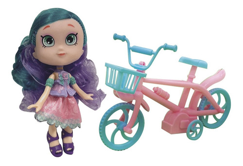 Imagen 1 de 10 de Muñeca Dina Con Bicicleta Mascota Casa Y Accesorios Ahora 12