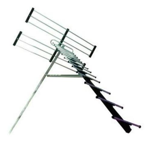 Antena Aerea Alta Ganancia Hd+10 Mt Cable+ Mastil+ Manual