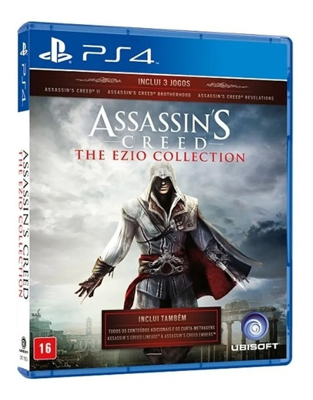 Assassins Creed Ezio Collection Ps4 Mídia Física Português