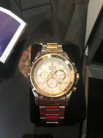 Relógio Bulova 98b014 Marine Star Misto Aço Escovado/dourado