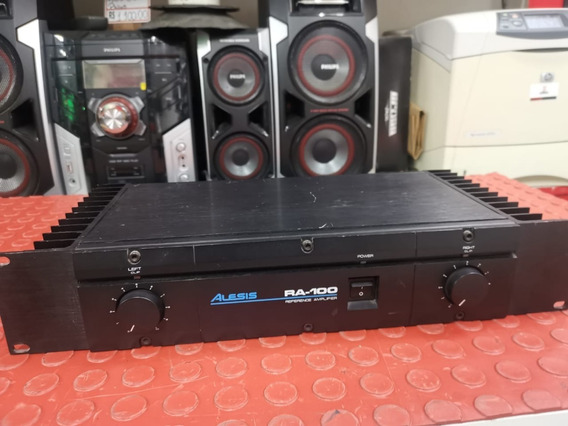 Amplificador Alesis Ra100 100 Watts Em 4ohms Estúdio 100% Perfeito! Garantia!