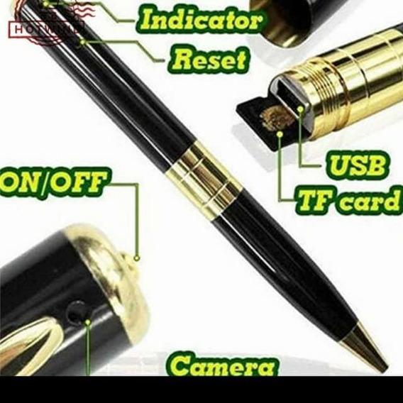 Caneta Espiã GoldCâmera Hd Mini UsbVídeo 1280x960+brinde