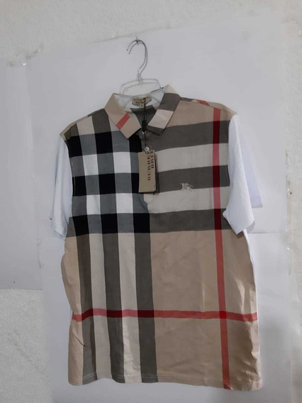 Playera Burberry Beige Con Blanco