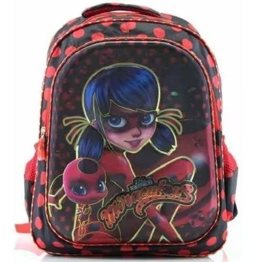 Mochila Ladybug Miraculous 3d Escolar Feminina Infantil