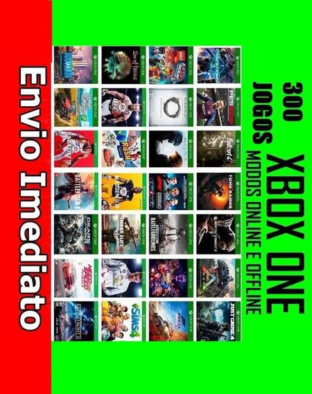 Pacote Com 300 Jogos De Xbox One + Gta 5 One Digital Origina