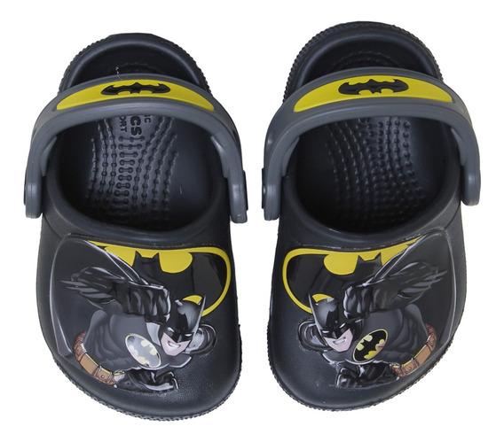 Sandalias Crocs Fl Batman K.3 Niño Ng/go