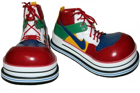 Zapatos Tenis De Payaso Multicolor Profesionales
