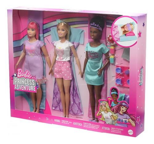 Bb Boneca Barbie Princess Adventure Festa Do Pijama