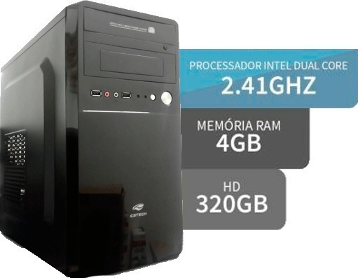 Micro Pc Desktop Dual Core 2.7 Ghz, 4gb Ram, Hd 320 Giga