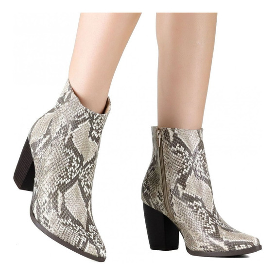 Bota Feminina Via Marte Ankle Boot 19-6008