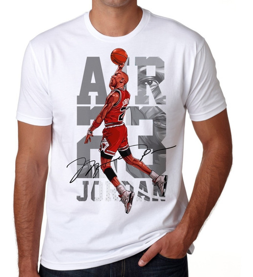 Playera Hombre Michael Jordan Air 23 Bulls Basketball Token