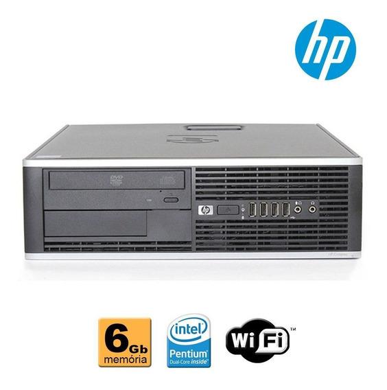 Pc Cpu Hp Elite Intel Core I5 6gb Ddr3 Dvd Wifi Sem Hd