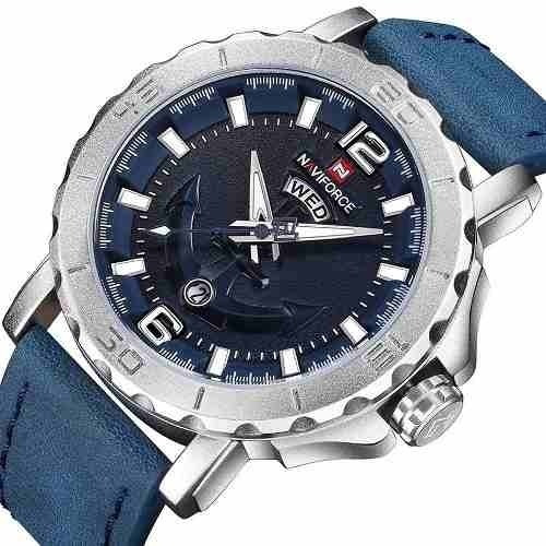 Relógio Naviforce Azul Âncora Original