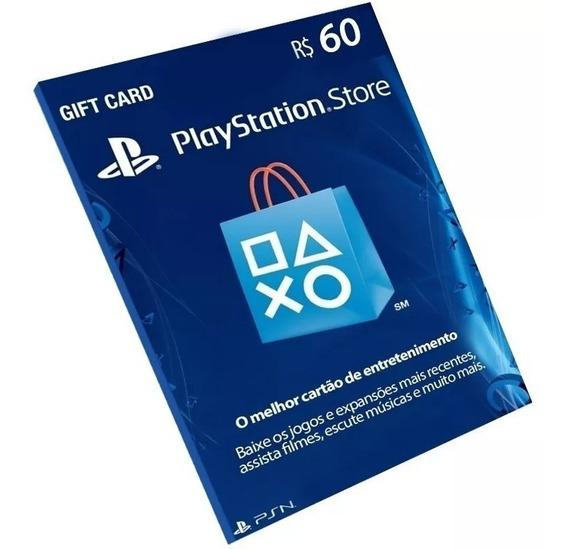 Cartão Playstation Plus R$60 Reais Psn Brasileira