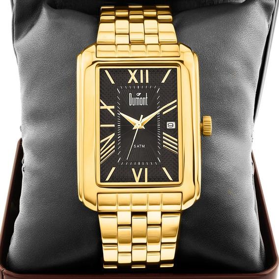 Relógio Masculino Dumont Dourado Du2115br/4p