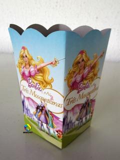 Cachepot Barbie Tres Mosqueteiras (10 Unidades)