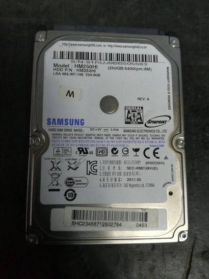 Discos Duros 250gb Para Laptops, Operativos, En Buen Estado