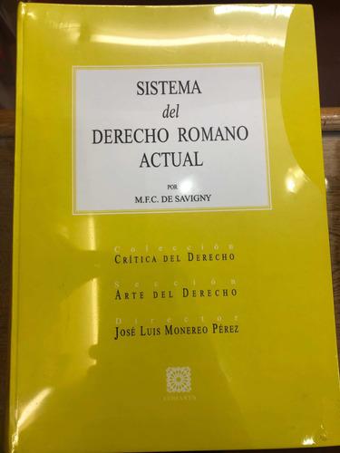 Sistema De Derecho Romano Actual