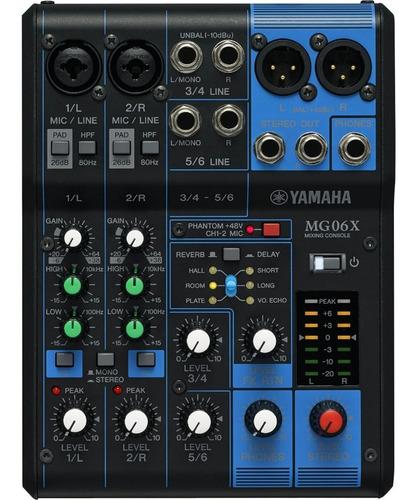 Mesa Mixer De Som Yamaha Mg06x 6 Canais + Nf + Garantia