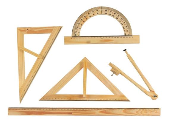 Brinquedos Educativos - Kit De Desenho Geométrico 5 Peças