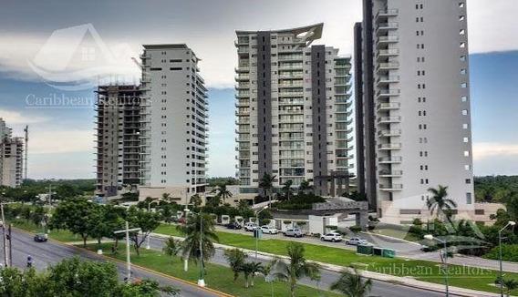 Departamento De Lujo Amueblado En Venta En Puerto Cancún/zona Hotelera/be Towers