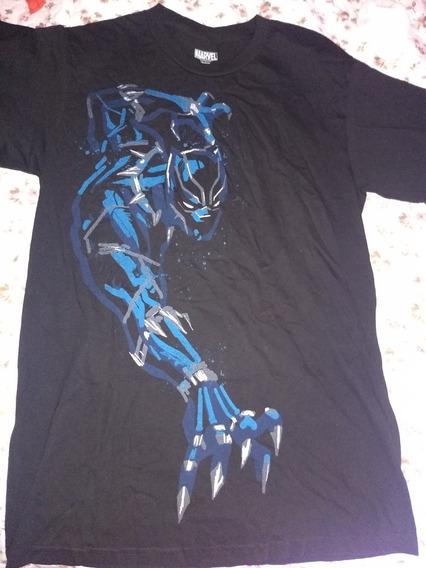 Playera Marvel Super Héroe Black Panther Pantera S/m
