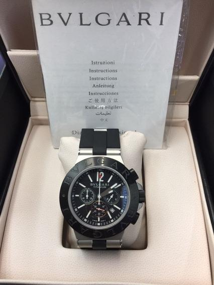 Relógio Bvllgari 2655 Titanium Funcional Bateria Borracha