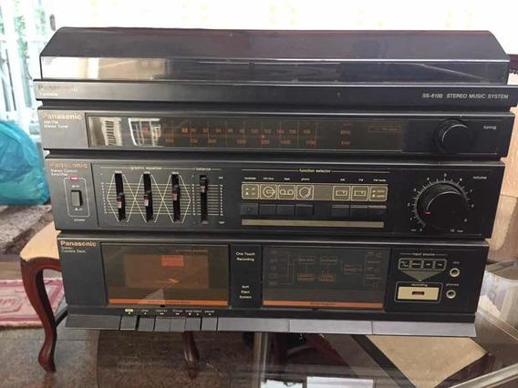 Som Panasonic Ss6100 Pickup Lp Am Fm Tape Deck Antigo Leia