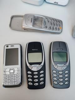 Aparelho Os Antigos Nokia 3 Clássicos Lote.
