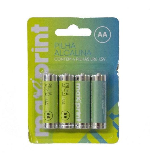 Pilha Aa Alcalina Blister C/4 Maxprint - 756343