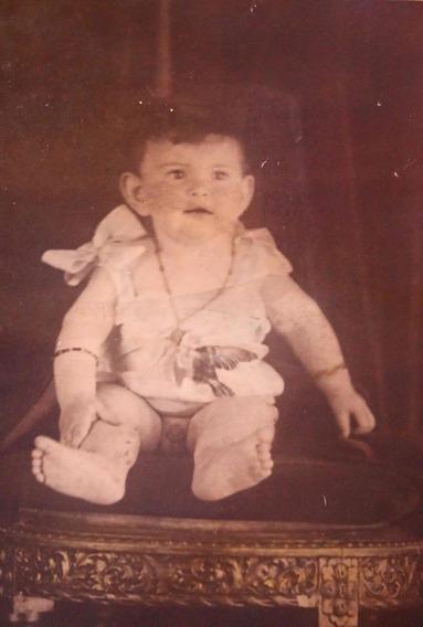 Fotografía Antigua Para Coleccionistas De Bebé Siglo Xix