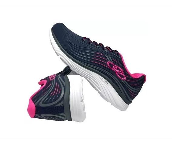 Tênis Esportivo Feminino Olympikus Dash Azul Marinho/pink