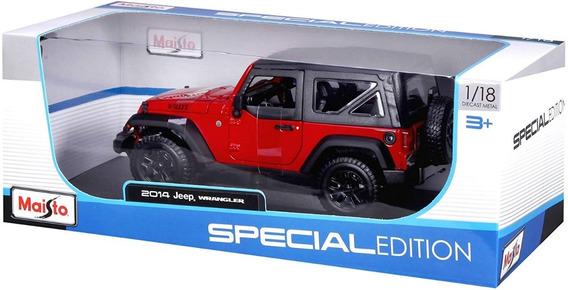 Miniatura De Carro Maisto Escala 1:18 Jeep Wrangler 2014