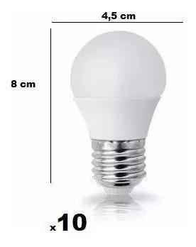 10 Mini Lâmpada Bulbo Led 5w Bolinha E27 Cordão Festa Camari