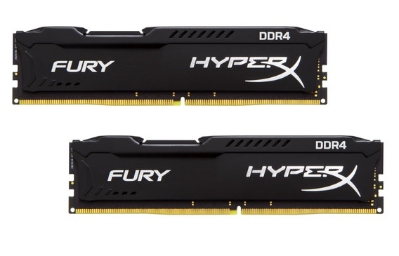 Memória 16gb ( 8gb X 2 ) Ddr4 2666mhz Kingston Hyperx Fury