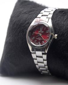 Relógio Feminino De Pulso Prateado Resistente Orimet, Lindo.