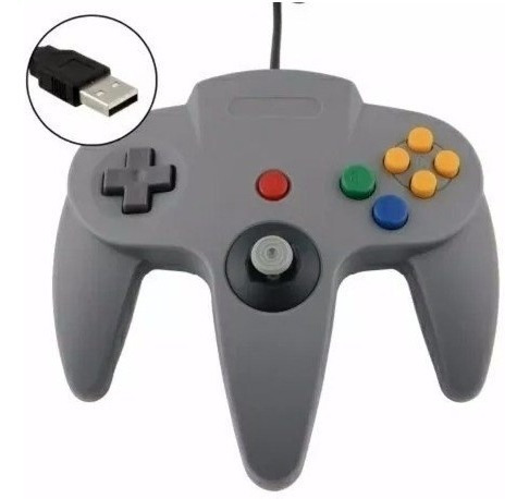 Controle N64 Nintendo 64 Usb Manete Pc Notebook Raspberry Pi