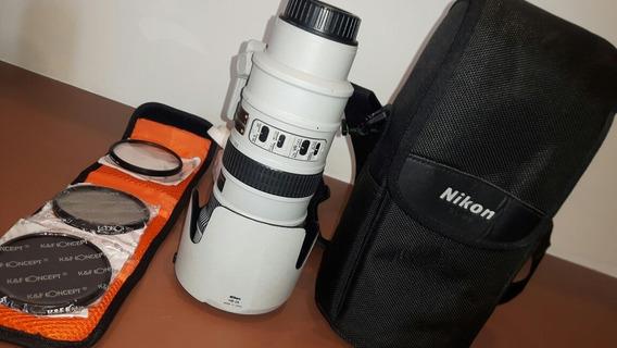 Lente Nikon 70-200 Silver Gray Edição Colecionador Branca