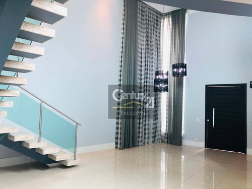 Casa À Venda, 380 M² Por R$ 2.980.000 - Condomínio Maison Du Parc - Indaiatuba/sp - Ca0885
