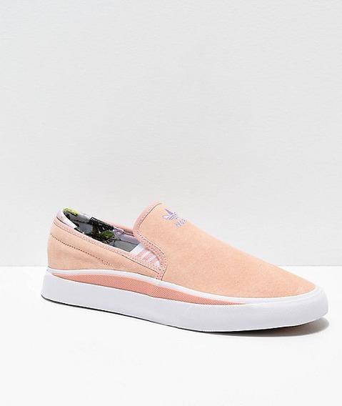 Tenis adidas Nora Sabalo Pink & White Slip-on Unisex Deporte