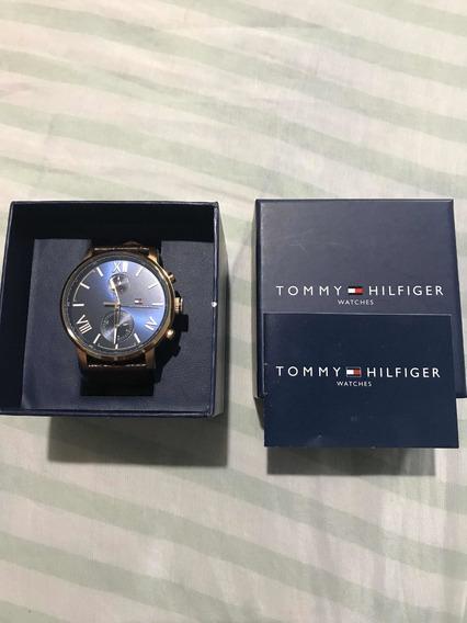 Relógio Tommy Hilfiger Original Pulseira De Couro! (usado)