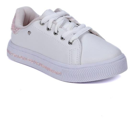 Tênis Infantil Para Menina - Branco/rosa