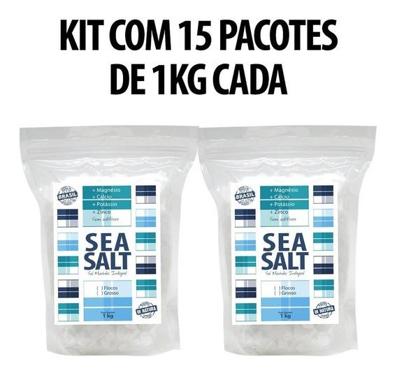 Sea Salt Sal Marinho Grosso In Natura (15 Kg)